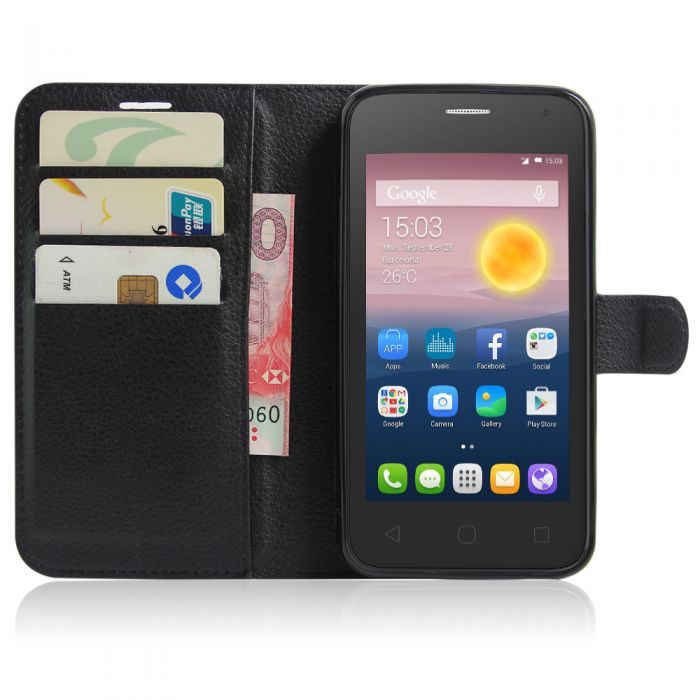 quality design 38472 65a0b Alcatel Pixi 4(5) 4G OT5010D Phone Case Wallet Flip Cover Folio Leather  Case Stand Display Card Pocket