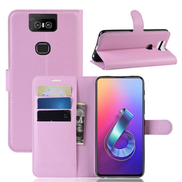 sports shoes 74cfe 7420a Asus ZenFone 6 ZS630KL Phone Case Wallet Flip Cover Folio Leather Case  Stand Display Card Pocket