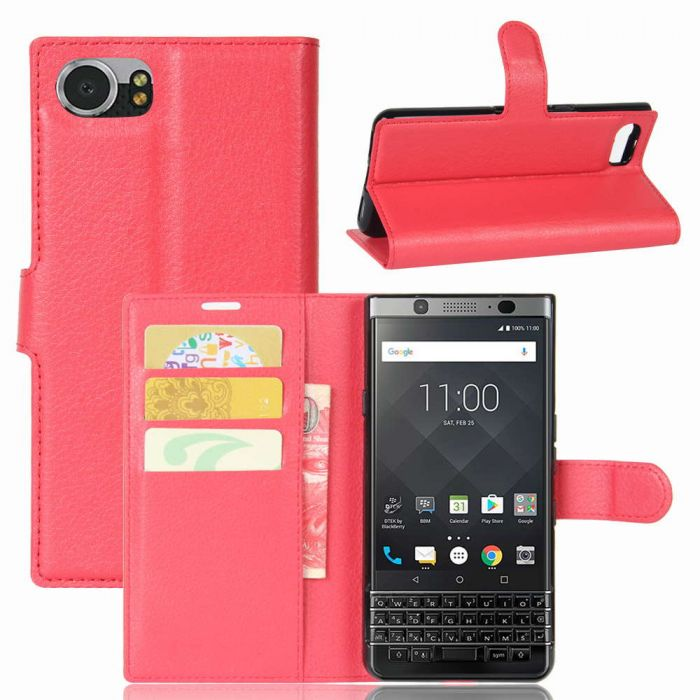 best service 9caea ce240 BlackBerry Keyone Mercury DTEK70 Wallet Flip Cover Leather Phone Case