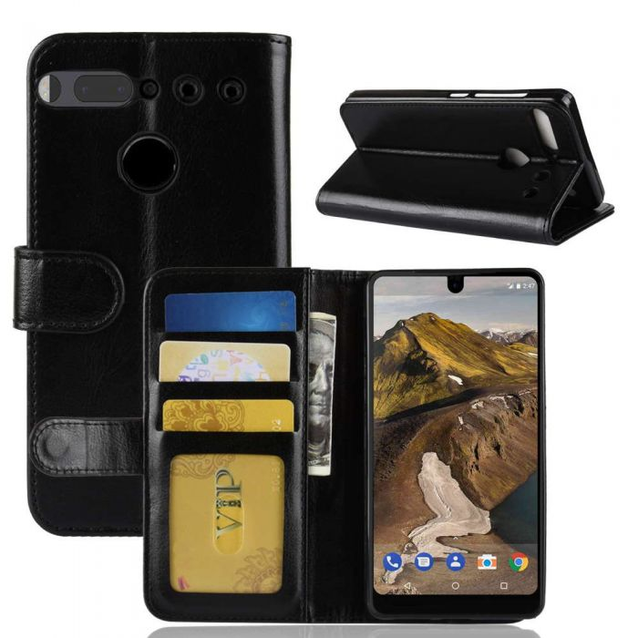 the best attitude 04fcb 361eb Essential Phone PH-1 Flip Folio Leather Wallet Case with ID and Credit Card  Pockets