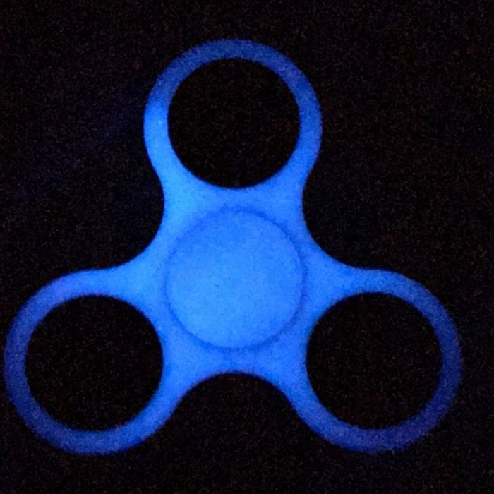 Fluorescence Finger Spinner Glowing Fidget ADHD Focus Anxiety Relief Toys