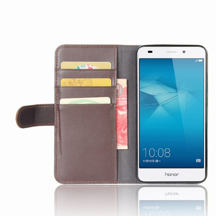 pretty nice ff1af ae109 Genuine leather Huawei Honor 5C (Honor 7 lite & GT3) Phone Case Wallet Flip  Cover Stand Display Card Pocket