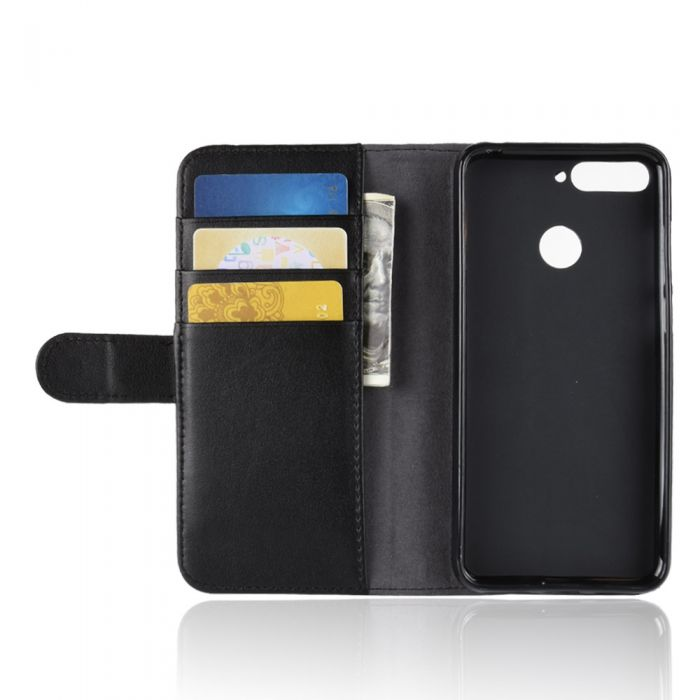 sale retailer 62628 fbb5b Genuine leather Huawei Honor 7A Pro Phone Case Wallet Flip Cover Stand  Display Card Pocket
