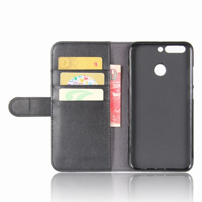 reputable site 9bd70 c3ef0 Genuine leather Huawei Honor 8 Pro Honor V9 Phone Case Wallet Flip Cover  Stand Display Card Pocket