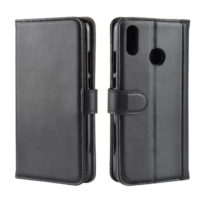low cost 89c48 e8e82 Genuine leather Huawei Y9 2019 Phone Case Wallet Flip Cover Stand Display  Card Pocket