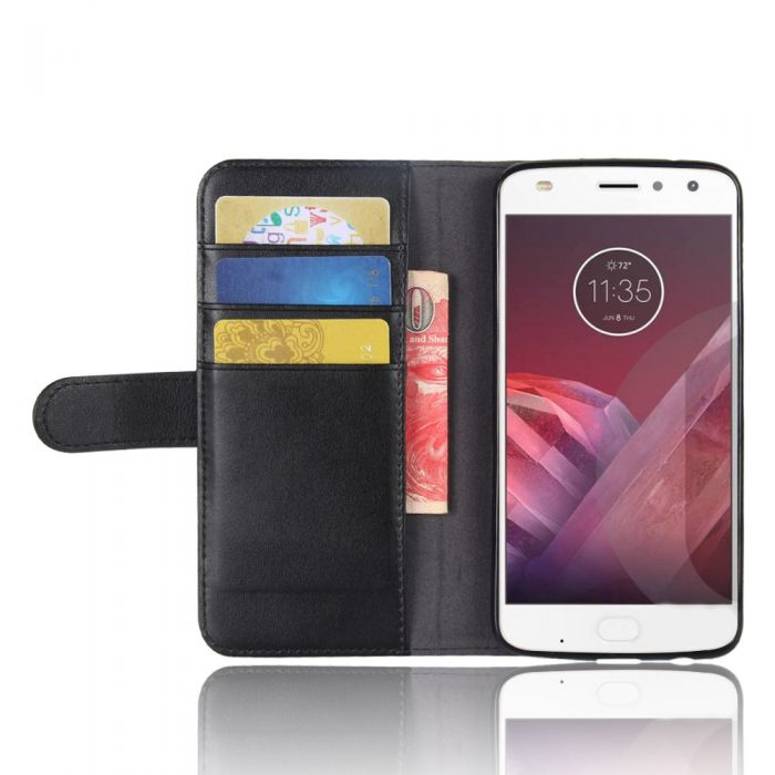 Genuine leather MOTO Z2 PLAY Phone Case Wallet Flip Cover Stand Display Card  Pocket  a340885f9