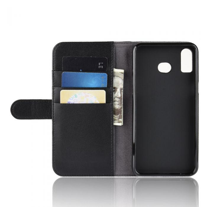 Genuine leather Samsung Galaxy A6S Phone Case Wallet Flip Cover Stand Display Card Pocket