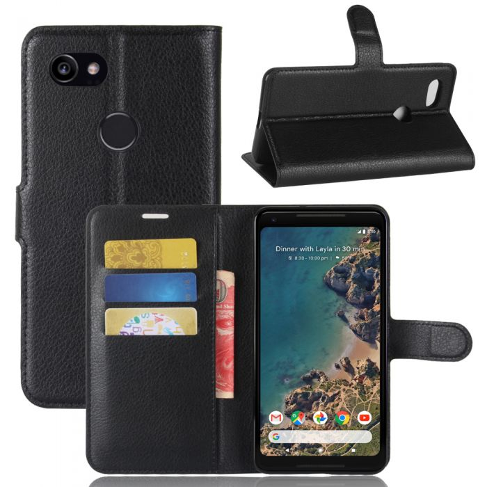 newest 89059 6d918 Google Pixel 2 XL Phone Case Wallet Flip Cover Folio Leather Case Stand  Display Card Pocket
