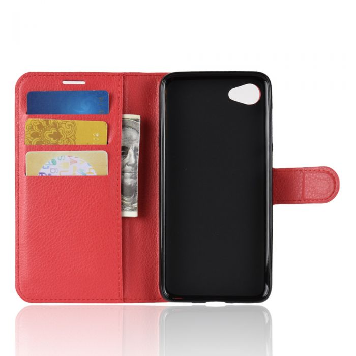 purchase cheap 890fd b35af HTC Desire 12 Phone Case Wallet Flip Cover Leather Stand Display Card Pocket