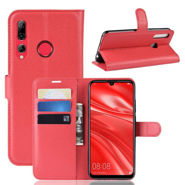 Herbests Compatible with Huawei Honor 10i Wallet Case Butterfly Pressed Pattern PU Leather Flip Case with Kickstand Credit Card Holders Shockproof Full Body Protective Cover,Rose Pink