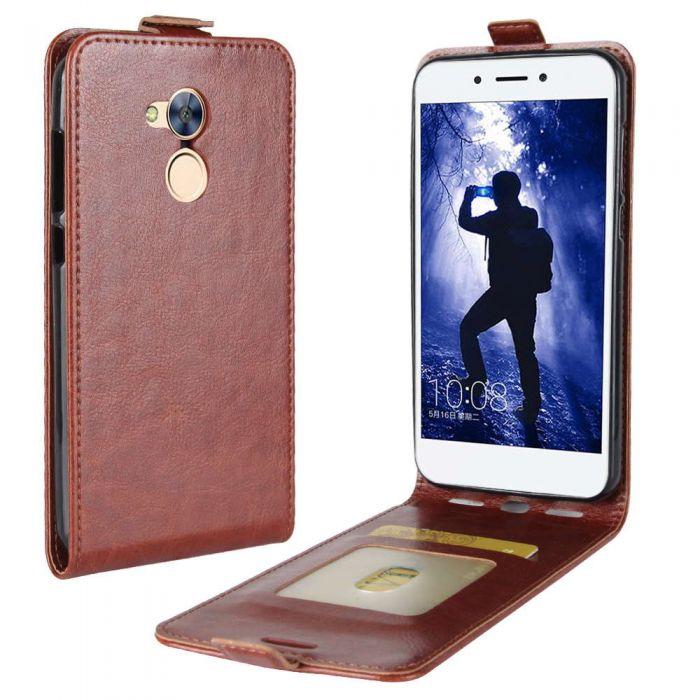 sale retailer aa32b a792e Huawei Honor 6A Leather Flip Phone Case Flip Cover Vertical Open ...