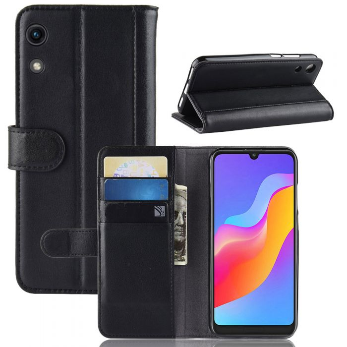 free shipping 124f1 e4694 Huawei Honor Play 8A Phone Case Wallet Flip Cover Folio Genuine Leather  Case Stand Display Card Pocket
