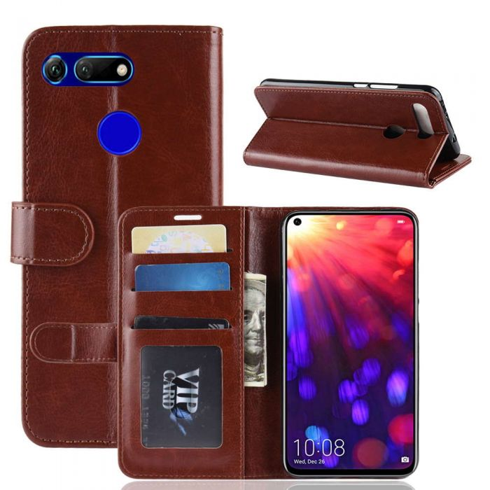 outlet store e9351 23aa8 Huawei Honor V20 /Honor View 20 Flip Folio Leather Wallet Case with ID and  Credit Card Pockets
