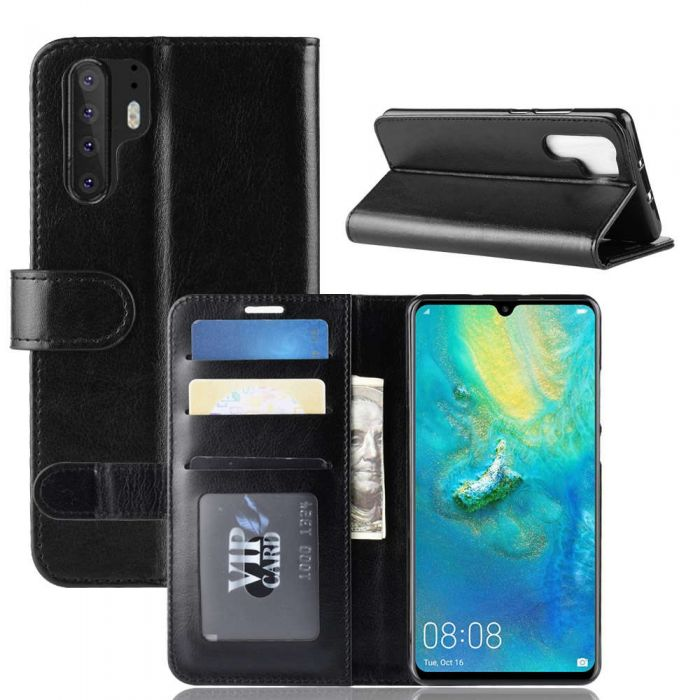 100% authentic 9c492 450ae Huawei P30 Pro Flip Folio Leather Wallet Case with ID and Credit Card  Pockets