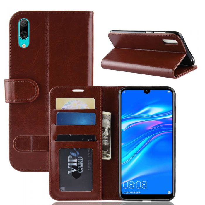 sale retailer 277bd 89426 Huawei Y7 prime 2019 /Y7 Pro 2019 (NF) Flip Folio Leather Wallet Case with  ID and Credit Card Pockets
