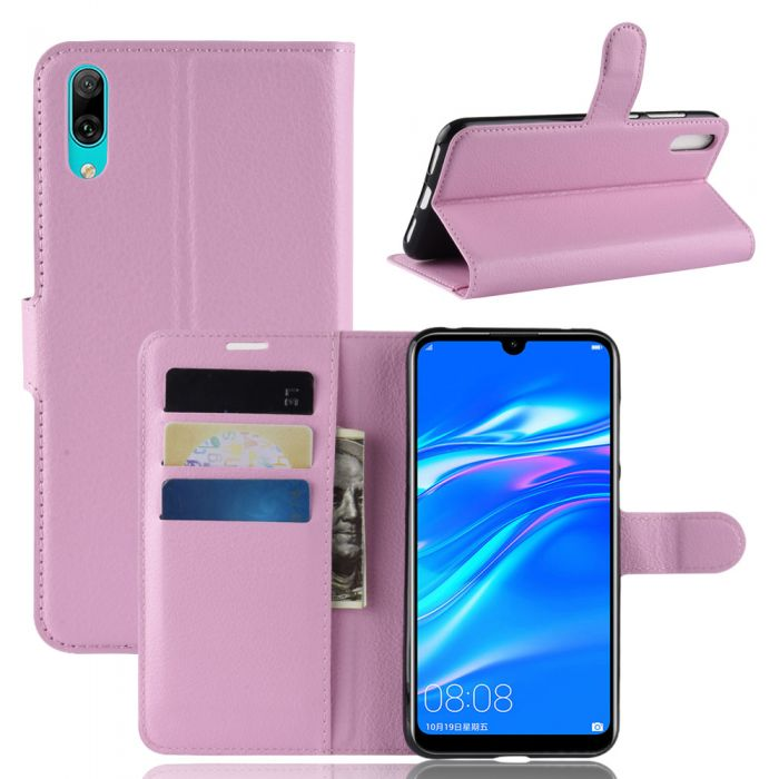 wholesale dealer 69efe a08ae Huawei Y7 prime 2019 Y7 Pro Phone Case Wallet Flip Cover Folio Leather Case  Stand Display Card Pocket