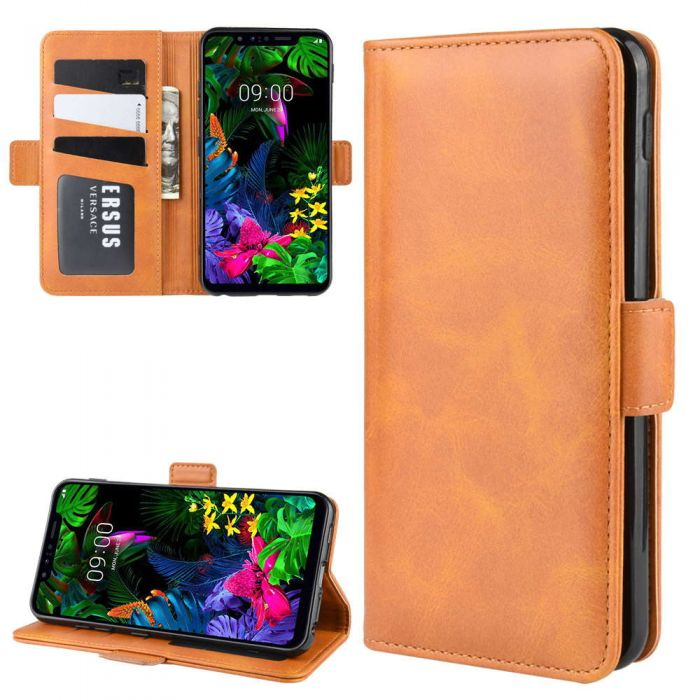 Shockproof Flip Case Cover for LG G8 Lomogo Leather Wallet Case for LG G8 G8S ThinQ with Stand Feature Card Holder Magnetic Closure LOTXI150656 L5 G8S