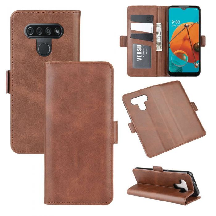 Lg K51 Flip Cover Leather Wallet Case With Dual Magnetic Closure Free Shipping Ttlet Com