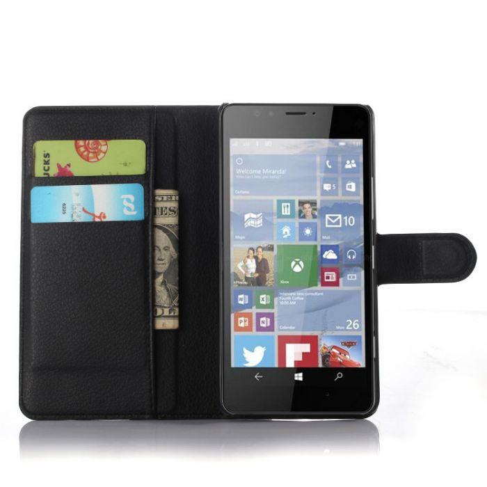 new style 6c90b 35568 Microsoft Lumia 950 Phone Case Wallet Flip Cover Leather Stand Display Card  Pocket