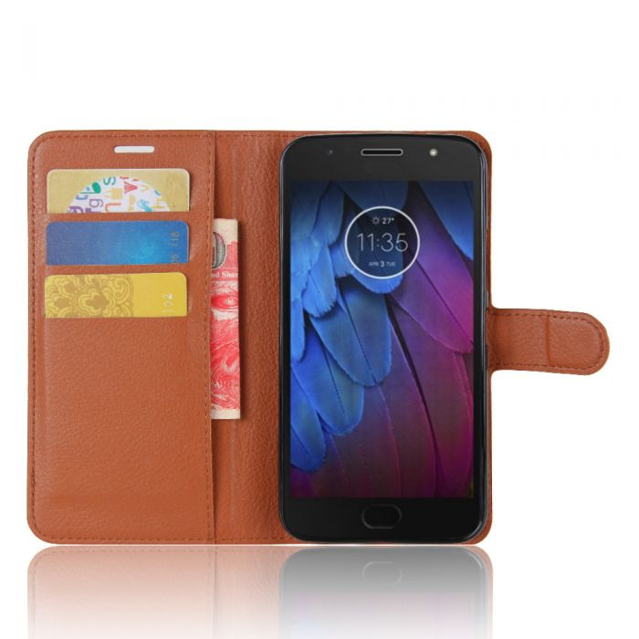 newest d4272 20bbe MOTO G5S PLUS Phone Case Wallet Flip Cover Leather Stand Display Card Pocket