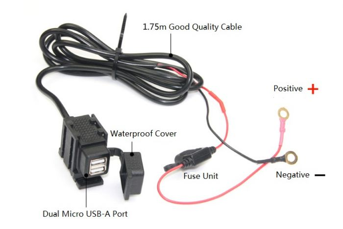 Phenomenal Waterproof Universal Usb Power Port With Fuse Bracket For Wiring 101 Capemaxxcnl