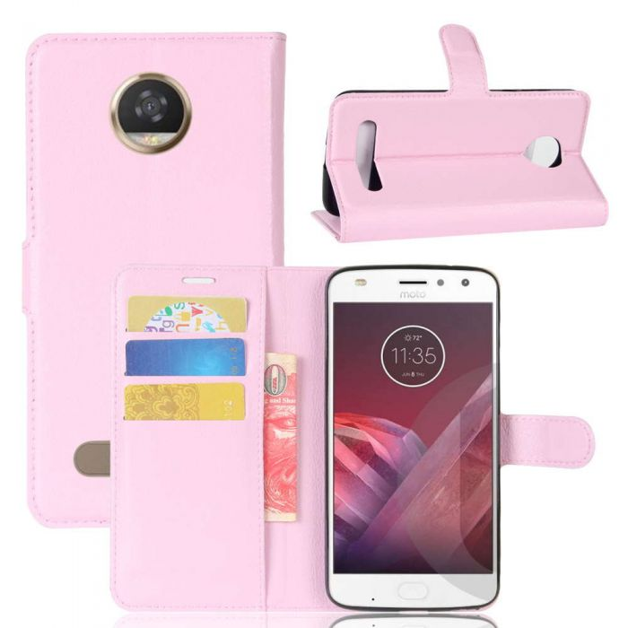 super popular 2188f 75278 Motorola Wallet Flip Cover Leather Phone Case Kickstand Card Pocket Moto Z2  Play
