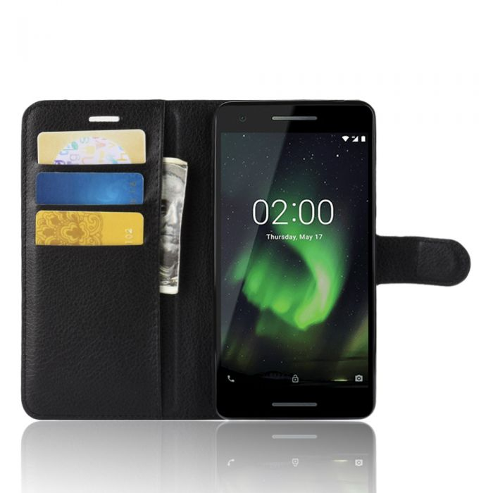 low cost b8622 bc5de Nokia 2.1 Phone Case Wallet Flip Cover Leather Stand Display Card Pocket