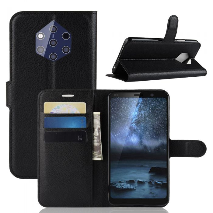 online store 6ae23 70846 Nokia 9 PureView Phone Case Wallet Flip Cover Folio Leather Case Stand  Display Card Pocket