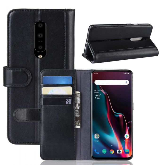 best service feb3b 682f7 OnePlus 7 Pro Phone Case Wallet Flip Cover Folio Genuine Leather Case Stand  Display Card Pocket