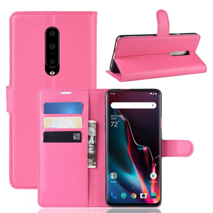 competitive price d73ef 1c983 OnePlus 7 Pro Phone Case Wallet Flip Cover Folio Leather Case Stand Display  Card Pocket