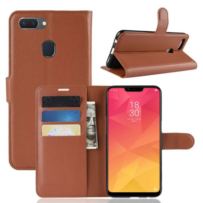 competitive price fb914 36358 OPPO A5 (Fingerprint) /OPPO realme 2 Phone Case Wallet Flip Cover Folio  Leather Case Stand Display Card Pocket