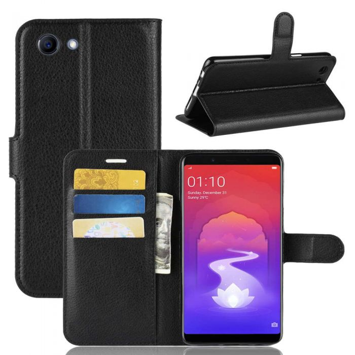 promo code e2ac0 32c16 OPPO realme-1 /OPPO F7 Youth A73S Phone Case Wallet Flip Cover Folio  Leather Case Stand Display Card Pocket