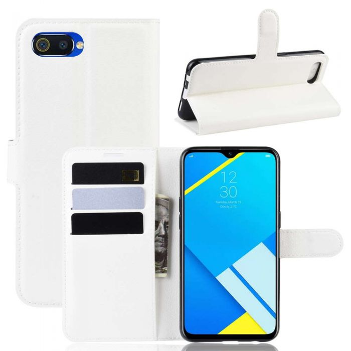 the latest 8f0b6 ba61c OPPO Realme C2 and A1K Phone Case Wallet Flip Cover Folio Leather Case  Stand Display Card Pocket