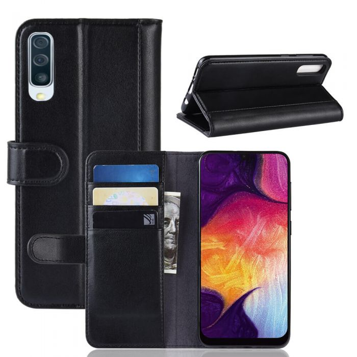 official photos 14edd f45a6 Samsung A50 Phone Case Wallet Flip Cover Folio Genuine Leather Case Stand  Display Card Pocket