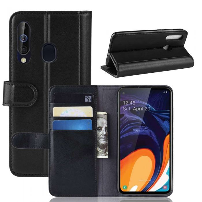 best service d36f9 6d416 Samsung Galaxy A60 Phone Case Wallet Flip Cover Folio Genuine Leather Case  Stand Display Card Pocket