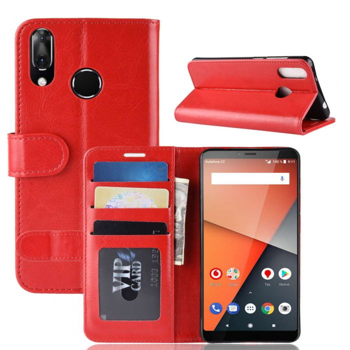 official photos 2f779 1cb24 Vodafone Smart X9 Flip Folio Leather Wallet Case with ID and Credit Card  Pockets
