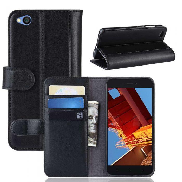 super popular 43632 2e920 Xiaomi Redmi GO Phone Case Wallet Flip Cover Folio Genuine Leather Case  Stand Display Card Pocket