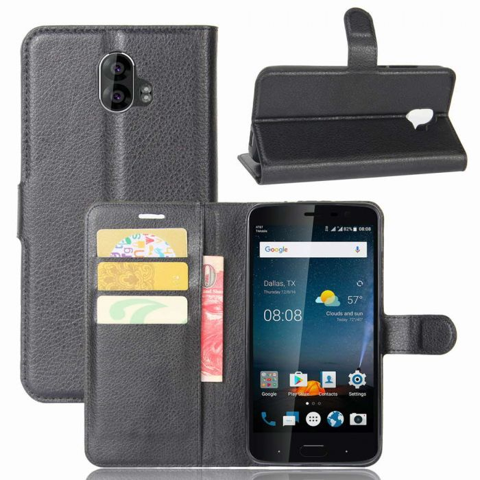 reputable site 919cc b6a06 ZTE Blade V8 Pro Phone Case Wallet Flip Cover Folio Leather Case Stand  Display Card Pocket