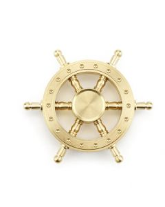 Brass Fidget Spinner 6 Spokes ship's wheel Hand Spinner Desk Finger Toy Anxiety Stress EDC