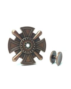 Cross Medal Fidget Spinner Fidget Toy Zinc Alloy Antique Finish
