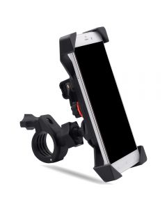 Adjustable & Rotatable Phone holder with USB Power port Mounted on MotorBike