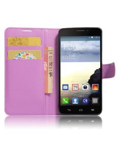 Alcatel Idol X Phone Case Wallet Flip Cover Folio Leather Case Stand Display Card Pocket