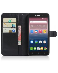 Alcatel Pixi 4  6.0(3G) Phone Case Wallet Flip Cover Folio Leather Case Stand Display Card Pocket
