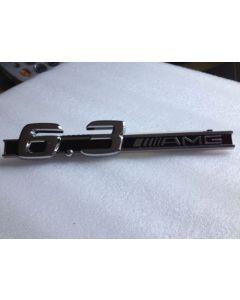 New 3D 6.3 AMG LOGO CHROME BADGE EMBLEM DECAL STICKER For C CL CLK CLS SL SLK