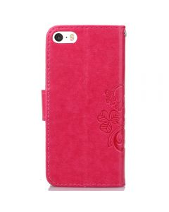 Apple iPhone Ultra Slim Wallet Flip Cover Leather Phone Case Kickstand Card Pocket Red Leather iPhone 5C