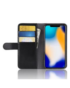 Apple iPhone XR Genuine leather Phone Case Wallet Flip Cover Stand Display Card Pocket