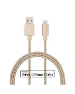 Apple MFI-certificated Lightning cable Braided cord Lightning to USB charge and sync cable