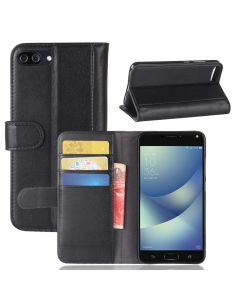Asus 4 MAX ZC554KL Phone Case Genuine leather Wallet Flip Cover Stand Display Card Pocket
