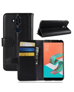 Asus 5 lite ZC600KL Phone Case Genuine leather Wallet Flip Cover Stand Display Card Pocket