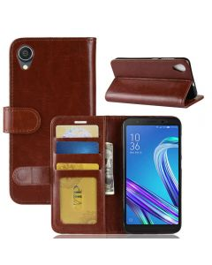 Asus live (L1) ZA550KL Flip Folio Leather Wallet Case with ID and Credit Card Pockets